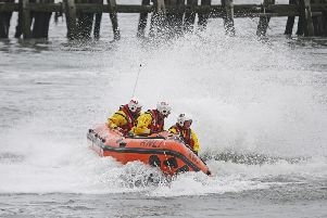 Tynemouth RNLI's new inshore lifeboat had just been named Little Susie when she was called out to a real-life rescue. Pic: RNLI/Adrian Don.