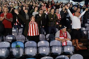 Sunderland fans celebrate their team's League One Play-off Semi-final win over Portsmouth