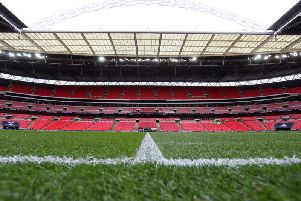 The League One play-off final attendance record could be broken at Wembley on Sunday afternoon
