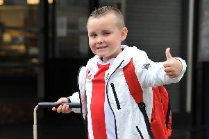 Six-year-old Olly Malcolm is set for his first Wembley experience.