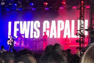 Lewis Capaldi on the New Music Stage at Radio 1 Big Weekend in Middlesbrough