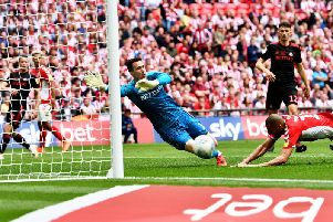 Sunderland fell to a last-gasp defeat at Wembley to leave them facing another season in League One at least.