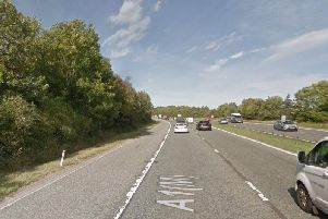 The northbound A1M. Picture from Google Images