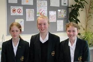 Isabella Entwistle, Grace Hildreth and Ava Local