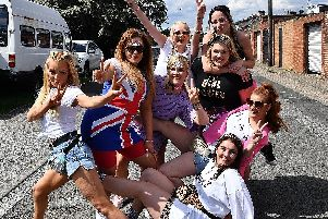 Spice Girls fans at the Stadium of Light on Thursday, June 6.