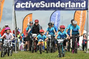 The Active Sunderland's BIG Family Bike Ride as it got under way at Herrington Country Park.