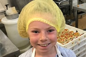 Kimberley Herbertson during the family trip around Thomas The Baker's Helmsley operation.