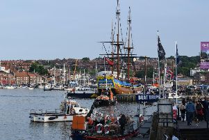 The Endeavour arrives in Whitby. Picture by Sam Jones.