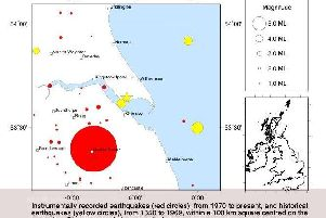 Where the earthquake struck. PIC: British Geological Survey.