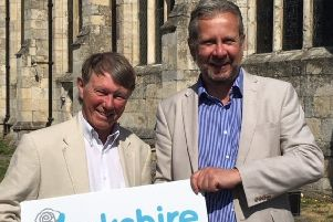 Mike Jordan pictured with Yorkshire Party leader Stewart Arnold