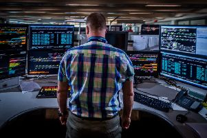 Date:12th September 2018.'Picture James Hardisty.'Rail Operations Centre, near Ashburys station in Manchester. Pictured Signaller Dean Smith.