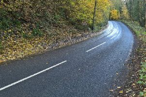 This road will be closed for two weeks due to a void