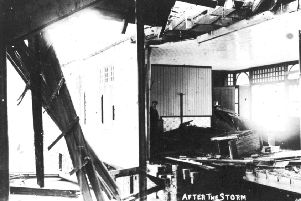 Wreckage of Scarborough's North Bay Pier January 1905
