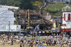 Demolition of the Futurist Theatre.