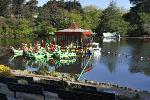 The incident happened in the town's Peasholm Park.