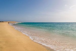 A beach on Cape Verde