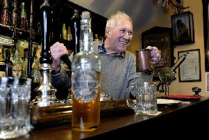 Gordon Clitheroe in the bar at Beck Isle Museum