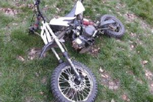 The abandoned pit bike was seized in Barrowcliff.