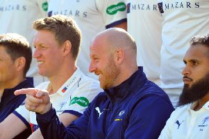 POSITIVE OUTLOOK: Yorkshire first-team coach Andrew Gale.  Picture: Tony Johnson.