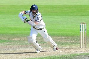 GOOD START: Yorkshire's Adam Lyth scored an impressive 81 at Trent Bridge on Saturday.