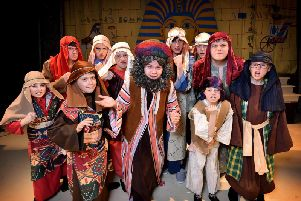 Cast of the YMCA production of Joseph and his Amazing Technicolour Dreamcoat