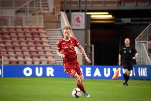 James Walshaw in action during Boro's cup final win