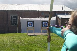 Air cadets enjoyed the outdoor archery session.