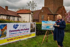 The Rev Shena Moray promotes St Marks arts festival.
