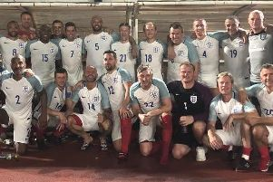 Boro boss John Deacey captained the England Veterans in their World Cup semi-final win over Scotland