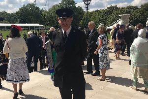 Geoff Edmond at the Royal Garden Party.