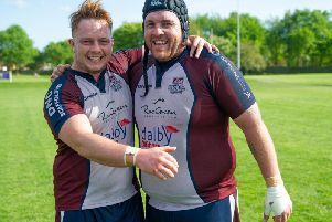 Matty Jones, right, has stepped down as captain of Scarborough RUFC