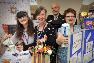 Tim Kirkup, pictured in a past Dementia Week in the Brunswick Centre with Irene Jervis, Kate Paul and Bernadette Brown.  pic Richard Ponter 152018