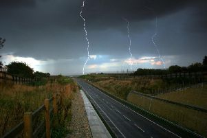 A yellow weather warning for thunderstorms has been issued for Scarborough.