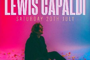 Lewis Capaldi. Image courtesy of Scarborough Open Air Theatre