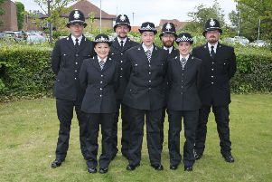 The new police officers in the Scarborough command.