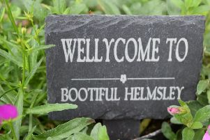 A sign in the Wellies at Helmsley Outdoors.