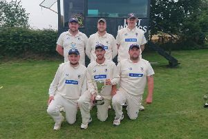 Filey beat Cloughton in the final to win the Staxton Six-a-Side competition. Back from left, Jamie Gilbank, Jamie Griffin, Josh Dawson. Front from left, Dave Brannan, Tom Fitzgerald and Ryan Baldry