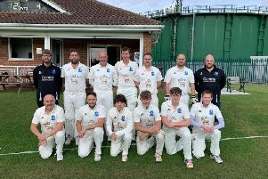 Scalby 2nds beat Cayton 2nds to lift the Division Two Cayley Cup, sponsored by Owzat Cricket. Picture by Carl Parkin.