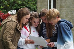 Students share their results with each other. PIC: Ryedale School