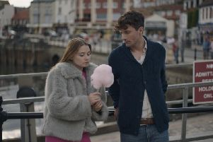 Jessica Barden and Edward Hogg in Scarborough.