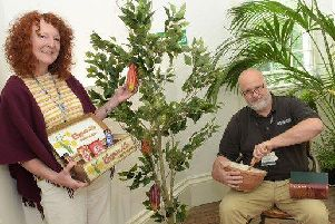 Curator at Sewerby Hall and Gardens Janice Smith and education officer at Sewerby Hall and Gardens, Rob Chester.