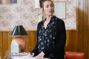 Catherine Tyldesley as Karen. PIC: BBC