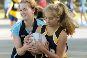 Netball-loving yougsters. Below: Sheffield Concord Netball Club