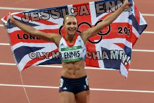 Jessica Ennis-Hill after winning gold at London 2012