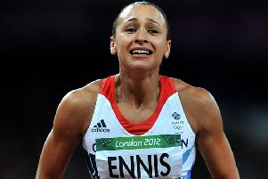 Tears of joy for  Jessica Ennis  after clinching gold in the London 2012 Olympics.   Photo: Martin Rickett/PA Wire.