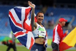 Jessica Ennis-Hill after winning silver. Photo : Owen Humphreys/PA Wire