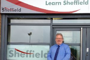 Stephen Betts, chief executive of Learn Sheffield, want to make Sheffield a wolrd-class city. Photo by Dan Hobson.
