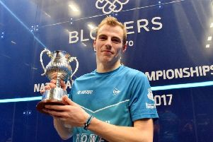 Nick Matthew with his ninth British Nationals title. Pic: @NationalsSquash