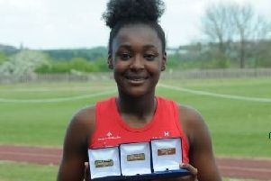 Acacia Williams-Hewitt,   who took Yorkshire Gold in all three of the Under 15 Girls sprints ' 100m, 200m and 300m, the latter in a new Championship best.