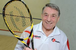 John Robertson squash coach at the Brampton Manor squash courts.